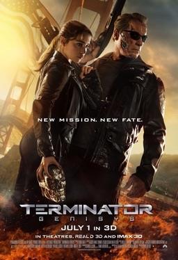 Poster ufficiale dell'ultimo sfortunato capitolo del franchise, Terminator: Genisys