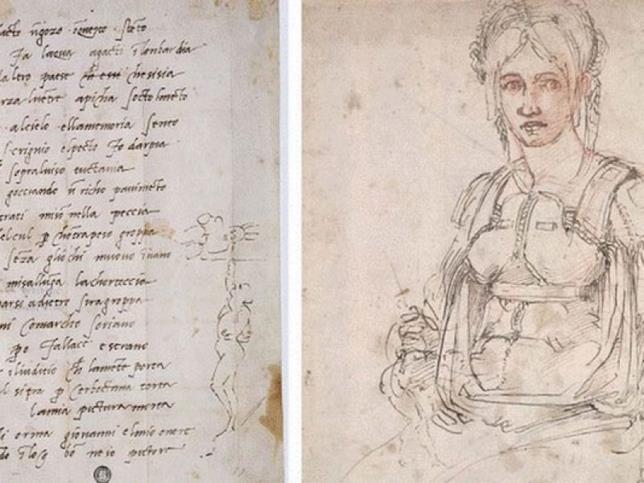 Dettagli sull'autoritratto di Michelangelo in un sonetto del 1509 dedicato a Giovanni da Pistoia