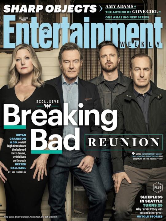 Jesse, Walter e gli altri sulla copertina di Entertainment