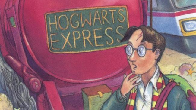 Harry Potter sulla cover del primo libro