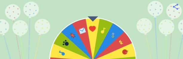 Un momento della ruota della fortuna del Doodle di Google