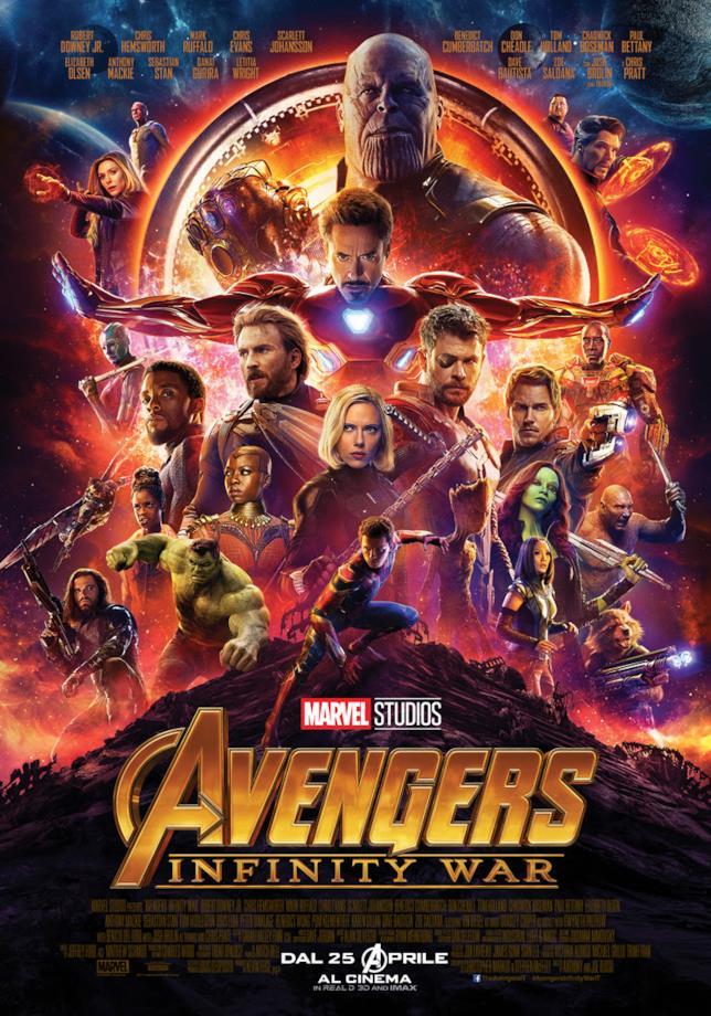Il poster italiano di Avengers: Infinity War con tutti i protagonisti