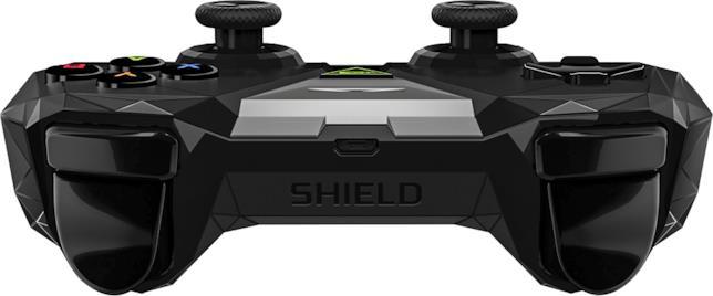 Il retro del controller Nvidia Shield