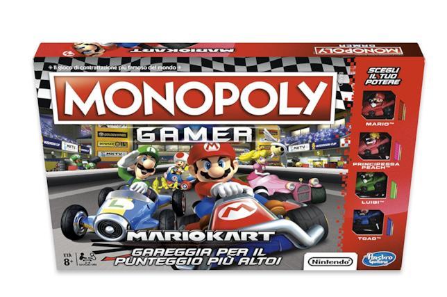 I kart di Super Mario sfrecciano anche sul tabellone del Monopoly