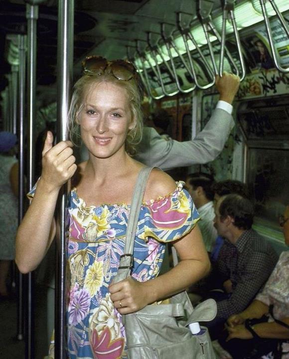 1981: Meryl Streep nella metropolitana di New York