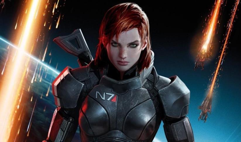 Il comandante Shepard nella variante femminile da Mass Effect