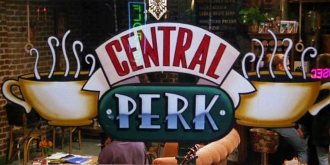 L'insegna del famoso Central Perk di Friends