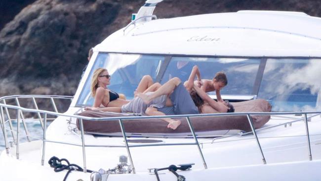Patrick Dempsey e la famiglia in vacanza