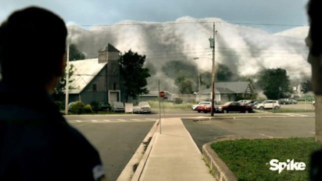 The Mist, scena arrivo nebbia