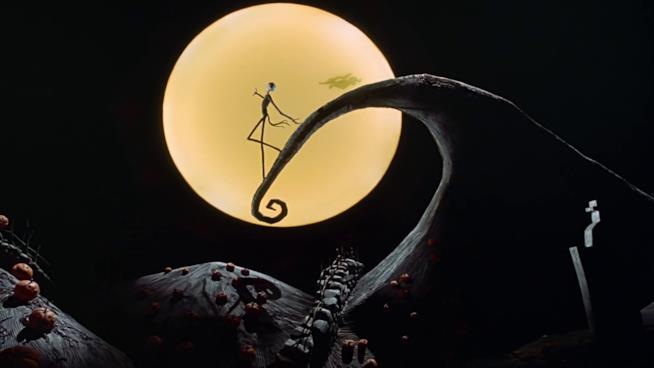 Una famosa scena del film d'animazione di Tim Burton
