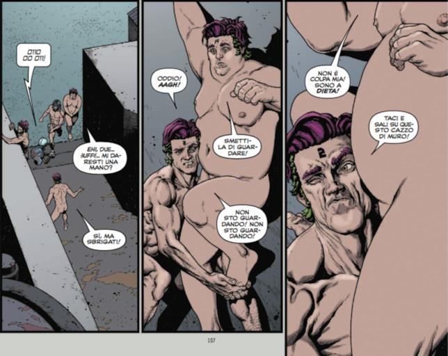 Replica 1, tavola con i cloni nudi