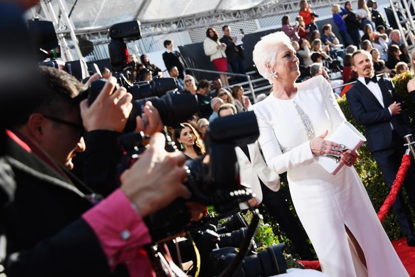 Jamie Lee Curtis sul red carpet dei Golden Globes 2019
