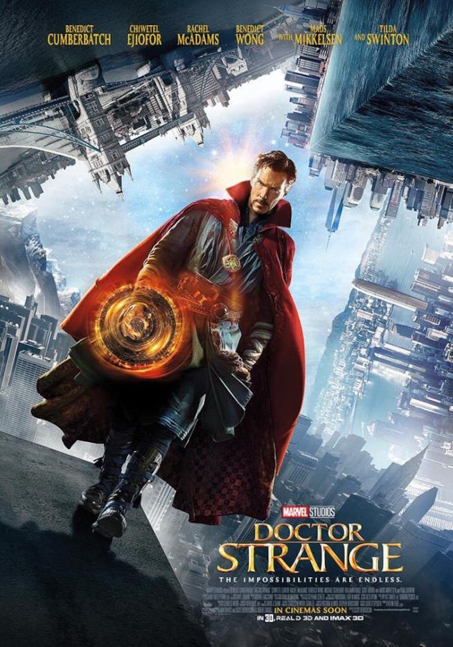 Benedict Cumberbatch nel ruolo di Stephen Strange