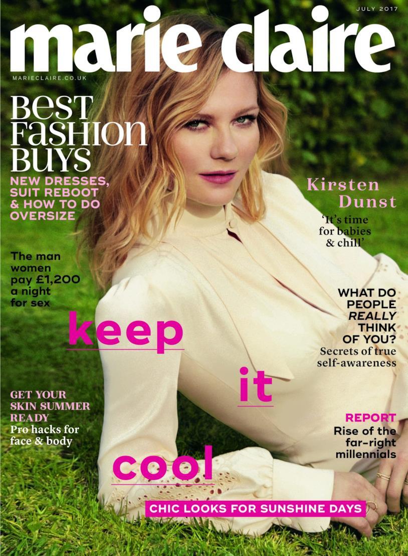 Kirsten Dunst in posa per Marie Claire