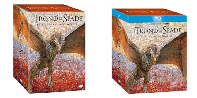 Cofanetto DVD e Blu-ray Trono di Spade