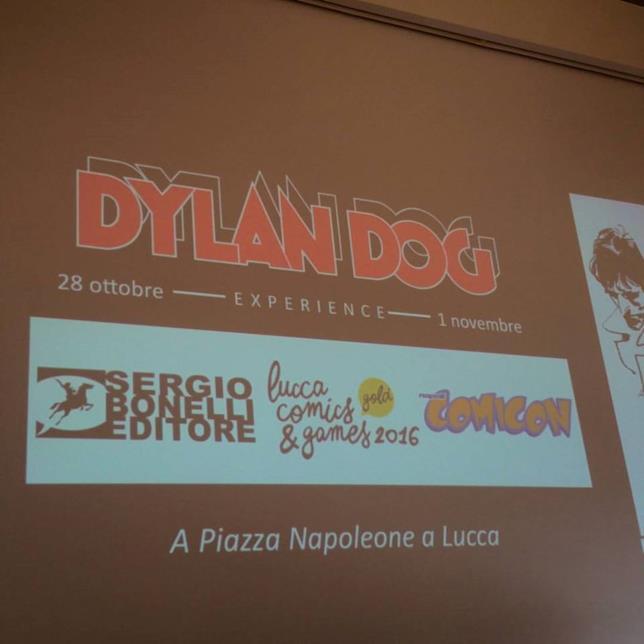 L'annuncio della mostra di Dylan Dog a Lucca Comics