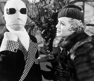 Una scena de L'uomo invisibile del 1933