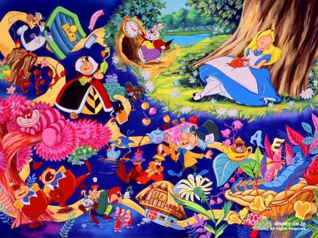I personaggi Disney di Alice nel Paese delle Meraviglie