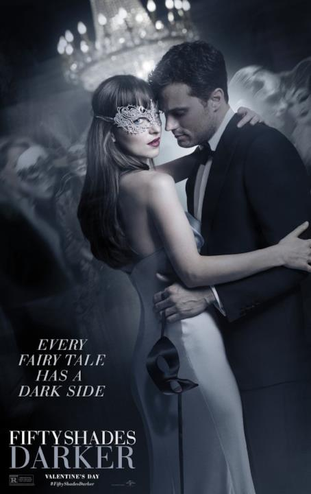 Anastasia e Christian abbracciati in Cinquanta Sfumature di Nero