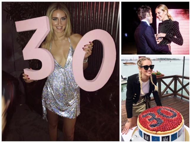 La fashion blogger Chiara Ferragni al suo trentesimo compleanno