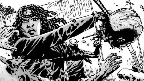 Michonne fa strage di vaganti con la sua affilatissima katana