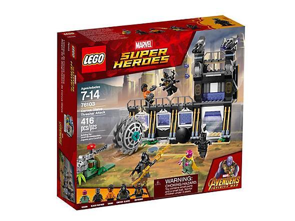 Dettagli del box L'attacco falciante di Corvus Glaive di LEGO