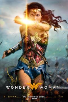 Il poster italiano di Wonder Woman con Diana che schiva proiettili