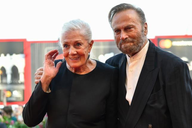 Il red carpet in nero di Franco Nero e Vanessa Redgrave