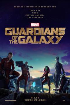 I Guardiani della Galassia nella locandina ufficiale del film
