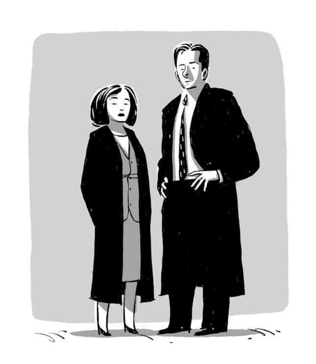I protagonisti di X-Files ritratti da Daniel Cuello
