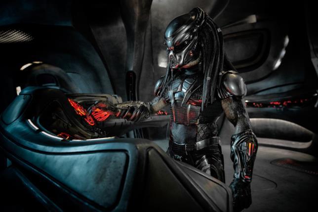 Il nuovo Predator in una sequenza del film