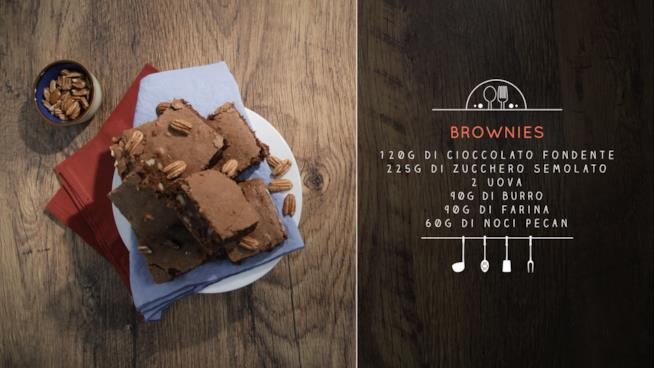 La ricetta dei brownies al cioccolato