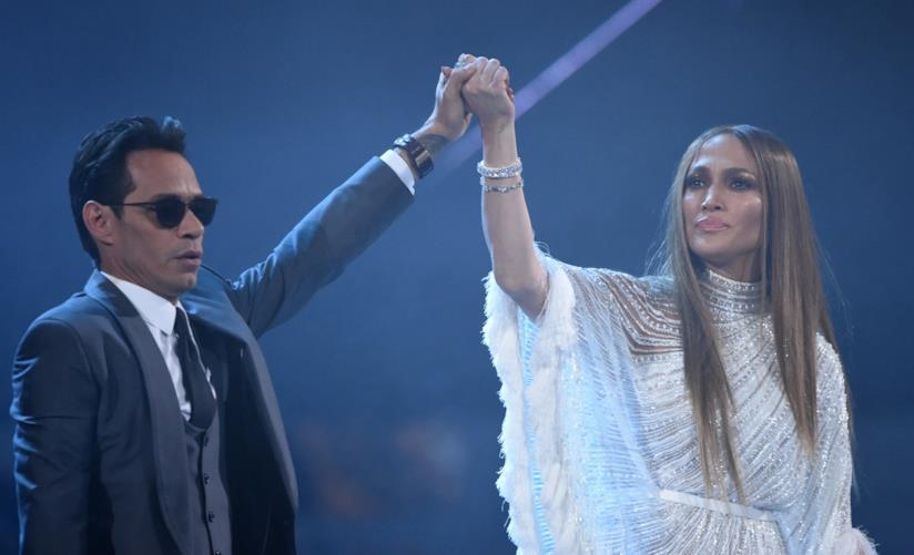 Primo piano di Jennifer Lopez e Marc Anthony
