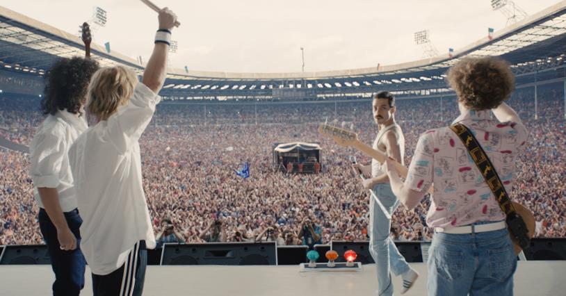 Una delle scene finali di Bohemian Rhapsody