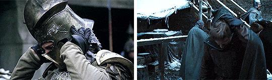 Jaime a Grande Inverno in GoT 1x01 e 8x01