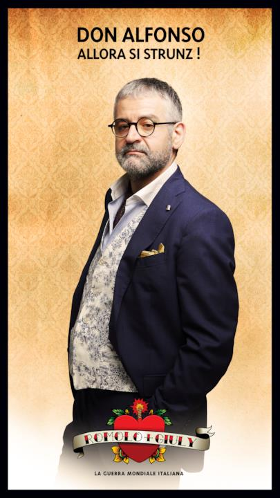 A rappresentare Napoli in Romolo + Giuly ci sarà Don Alfonso