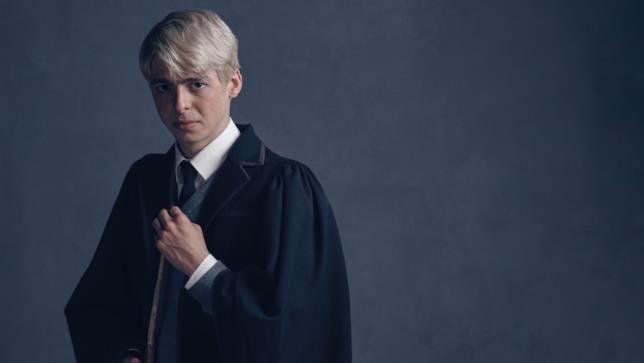 Anthony Boyle nel ruolo di Scorpius Malfoy