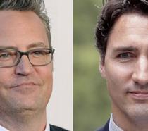 Un collage tra Matthew Perry e Justin Trudeau
