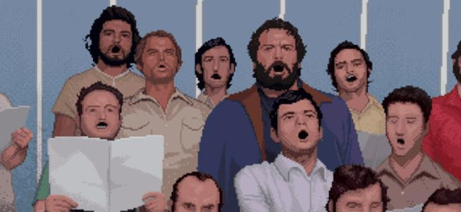 Una GIF di Bud Spencer & Terence Hill: Slaps and Beans