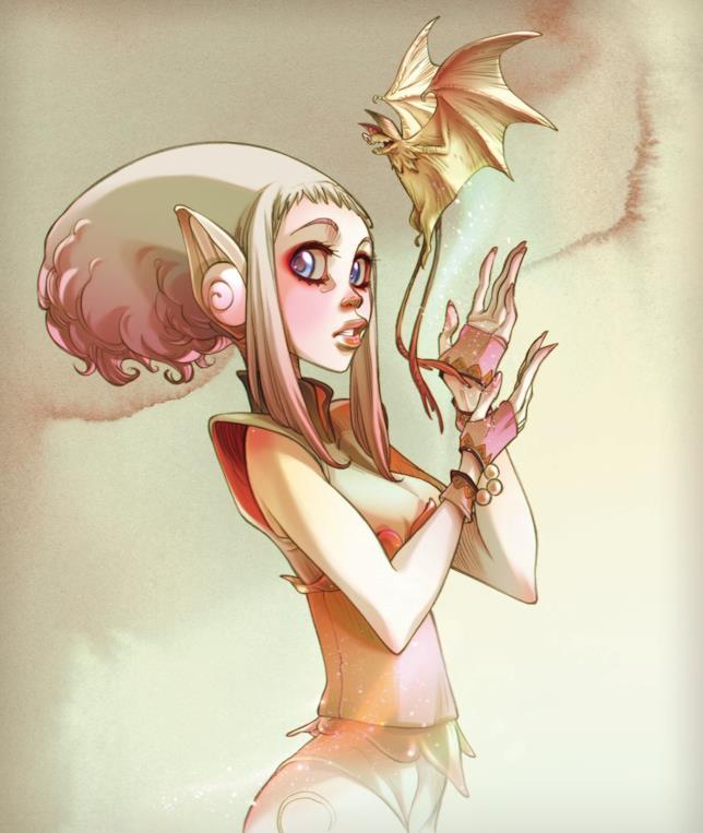 La bambola Noa disegnata da Barbucci e Canepa