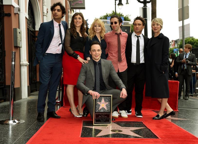 Jim Parsons e i colleghi di The Big Bang Theory
