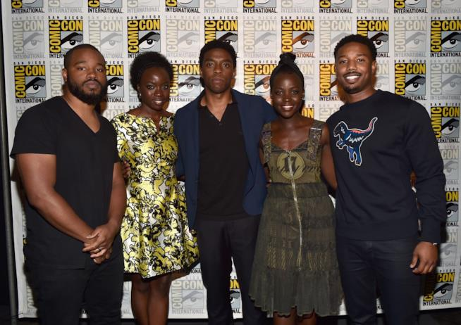 Ryan Coogler e il cast di Black Panther