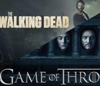I protagonisti di The Walking Dead e Game of Thrones
