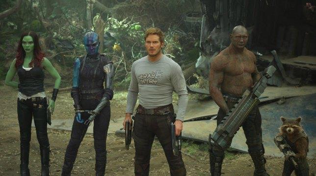 Parte del cast dei Guardiani della Galassia