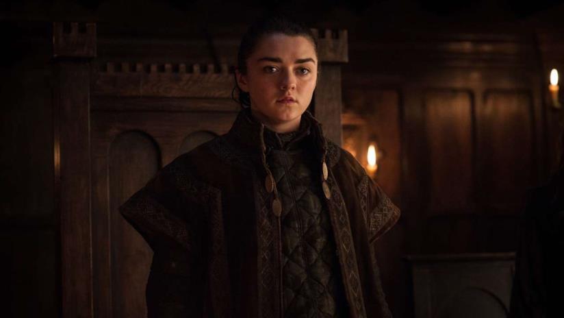 Maisie Williams nei panni di Arya Stark in Game of Thrones