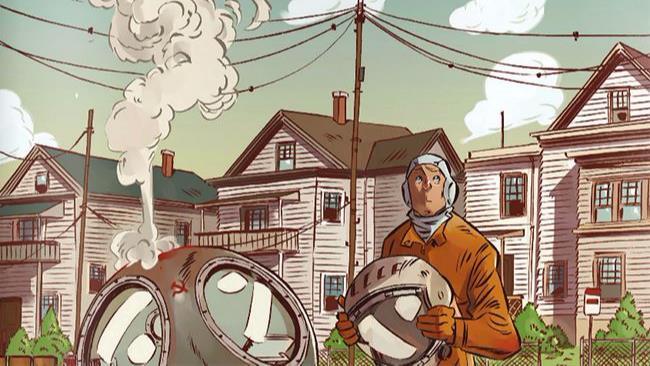 La copertina del nuovo fumetto di Toni Bruno