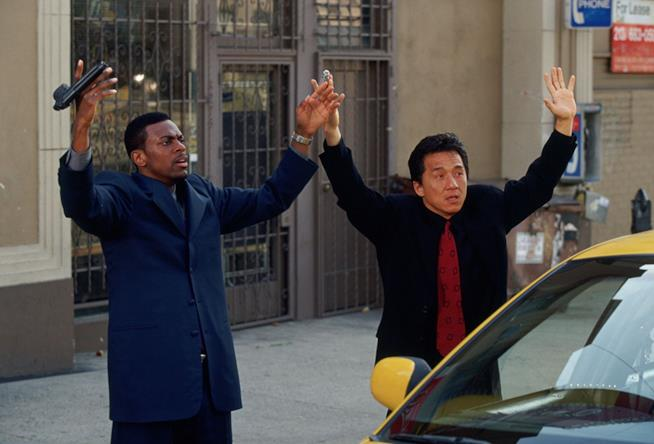 Jackie Chan e Chris Tucker in Rush Hour