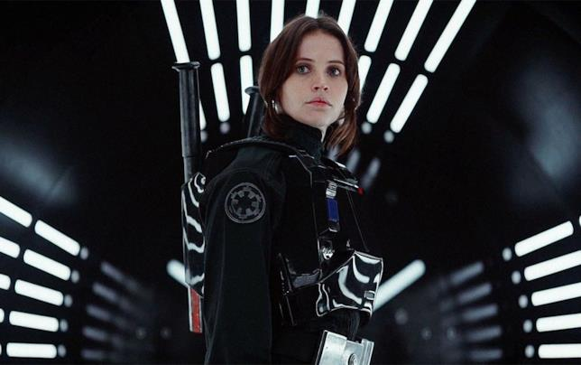 Jyn Erso interpretata da Felicity Jones è protagonista di Rogue One