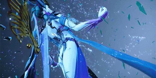 Una GIF di Shiva da Dissidia Final Fantasy