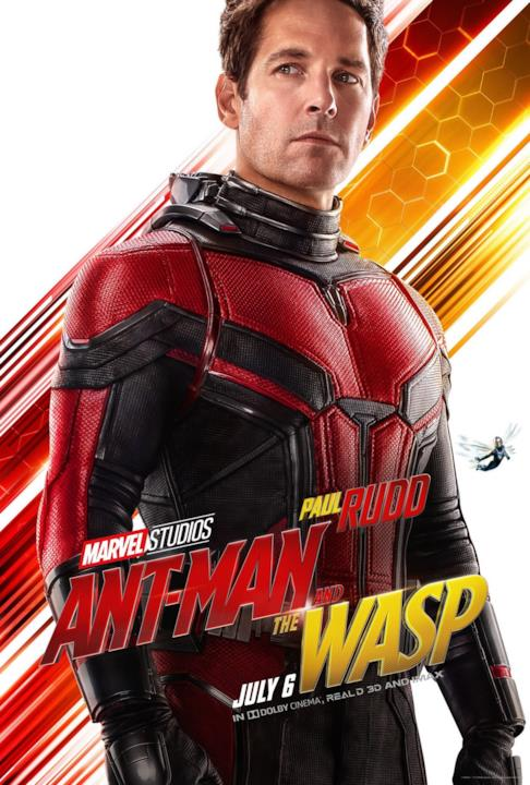 Paul Ruff nel character poster di Ant-Man & The Wasp
